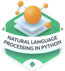 Illustration of the Natural Language Processing badge