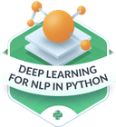 Illustration of the Deep Learning for NLP badge