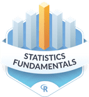 Illustration of the Statistics Fundamentals badge