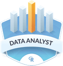Illustration of the Data Analyst  badge