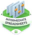 Illustration of the Intermediate Spreadsheets badge
