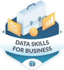Illustration of the Data Skills for Business badge