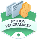 Illustration of the Python Programmer badge