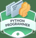 Illustration of the Python Programmer badge