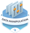 Illustration of the Data Manipulation  badge