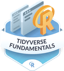 Illustration of the Tidyverse Fundamentals badge