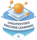 Illustration of the Unsupervised Machine Learning badge