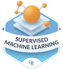 Illustration of the Supervised Machine Learning badge
