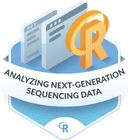 Illustration of the Analyzing Next-Generation Sequencing Data badge