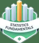 Illustration of the Statistics Fundamentals badge