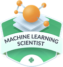 Illustration of the Machine Learning Scientist badge