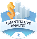 Illustration of the Quantitative Analyst badge
