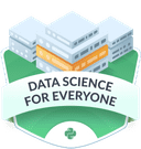 Illustration of the  Data Science for Everyone badge