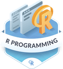 Illustration of the R Programming badge