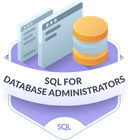 Illustration of the SQL for Database Administrators badge
