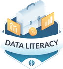 Illustration of the Data Literacy badge