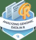 Illustration of the Analyzing Genomic Data badge