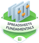 Illustration of the Spreadsheet Fundamentals badge