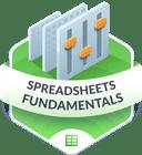 Illustration of the Spreadsheet Fundamentals badge