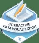 Illustration of the Interactive Data Visualization badge