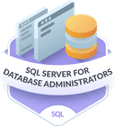 Illustration of the SQL Server for Database Administrators badge