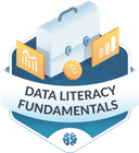 Illustration of the Data Literacy Fundamentals badge