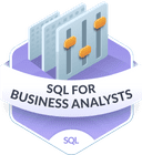 Illustration of the SQL for Business Analysts badge