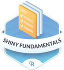 Illustration of the Shiny Fundamentals badge