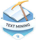 Illustration of the Text Mining badge