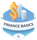 Illustration of the Finance Basics badge