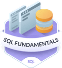 Illustration of the SQL Fundamentals badge