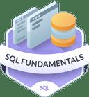 Illustration of the SQL Fundamentals badge