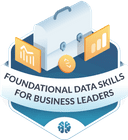 Illustration of the Foundational Data Skills for Business Leaders badge