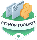 Illustration of the Python Toolbox badge