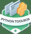 Illustration of the Python Toolbox badge