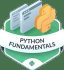Illustration of the Python Fundamentals badge