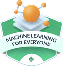 Illustration of the  Machine Learning for Everyone badge