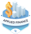 Illustration of the Applied Finance badge