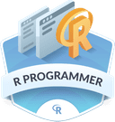 Illustration of the R Programmer badge