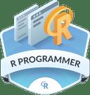 Illustration of the R Programmer badge