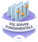 Illustration of the SQL Server Fundamentals badge