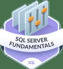 Illustration of the SQL Server Fundamentals badge